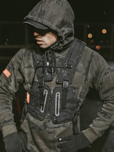 Image 5 - Chest Bags Male Tactical Vest Highly Visible Reflective Vest 2020 New Man Waist Pack Men Multi pocket Security Anti theft Pocket