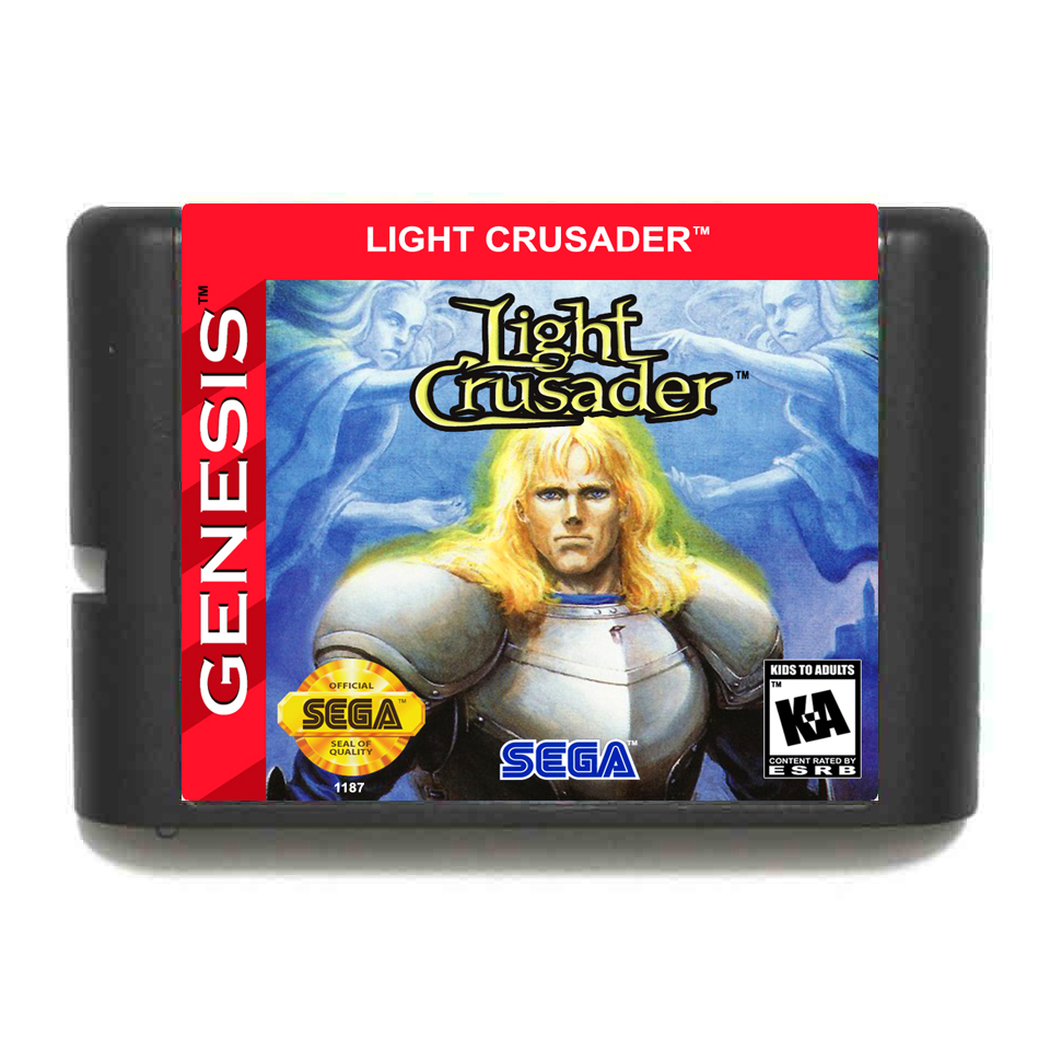 Light Crusader NTSC-USA 16 Bit MD Game Card For Sega Mega Drive For Genesis