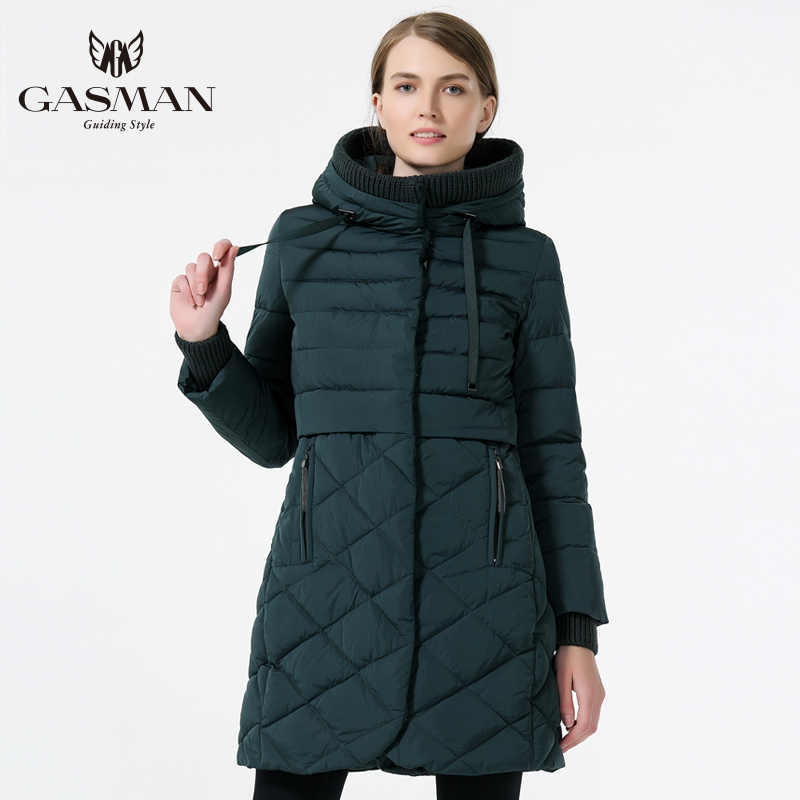 GASMAN 2019 femmes à capuche chaud vers le bas Parka femme pardessus longueur moyenne mince Bio vers le bas épaississement doudoune marque femme manteau