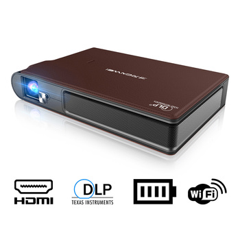 S6W DLP MINI proyector recargable WIFI portátil LED proyector Video 3D Full proyector HD para 1080P teléfono inteligente Cine en Casa teatro