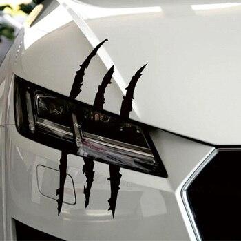 37 ซม.* 9 ซม.สติกเกอร์รถตลกสะท้อนแสงMonster Scratch Stripeกรงเล็บรถยนต์ไฟหน้าอัตโนมัติตกแต่งรูปลอกรถสติกเก...
