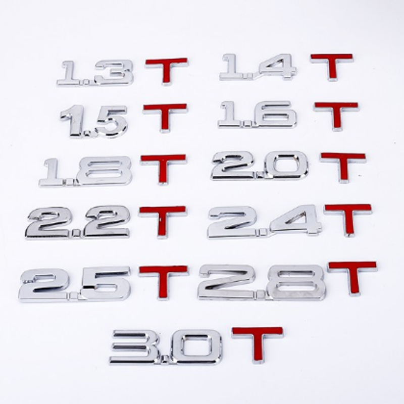 Автомобильная наклейка Объем двигателя металла 1,3 1,4 1,6 1,8 2,0 2,5 2,8 3,0 с объемным логотипом автомобиля задний багажник эмблемы наклейки для авт...