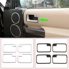 Car Styling, adesivo per rivestimento telaio maniglia porta interna, ABS cromato, per Land Rover Discovery 3 LR3 2004 2009, accessori Auto