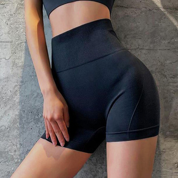 High Waist Women Shorts Fitness Sports Shorts Summer Jogging Female Casual Skinny Soft Elastic Stretch Solid Color Biker Shorts