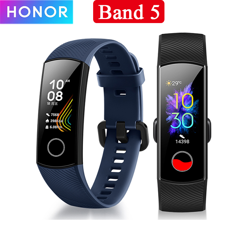 Huawei Honor Band 5 Touch Screen Smart Bracelet band 4 0.95inch Tracker Smart OLED Swimming Waterproof Bluetooth Fitness Tracker image