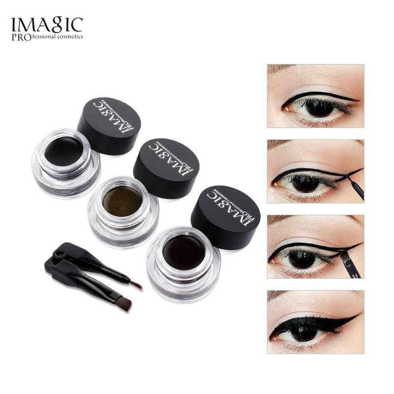 IMAGIC Eyeliner Waterproof Eyeliner Gel Makeup Cosmetic Gel Eye Liner With Brush 24 Hours Long-lasting  Eye Liner Kit