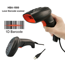 Wired Barcode Scanner Laser Portable 1D Bar Code Reader Handheld Long Range USB Cable for POS System and Inventory management usb wired auto induction laser car code scanner black grey