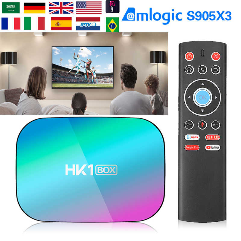 2020 Deblokkeren Tv Box HK1 Doos S905x3 Android 9 Set Top Box 1000M Dual Wifi 4 K Google Speler netflix Youtube Mediaspeler HK1 Max