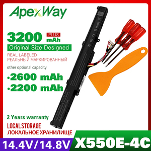 ApexWay 14.8V Laptop Battery For ASUS A41-X550E X450E X450 X450J X751L X751M X450JF F450 F450C F450V F450E A450(China)