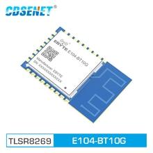 E104 BT10G 2.4GHz TLSR8269 Bluetooth Transceiver UART โมดูล SMD GFSK SigMesh ประตู WAY สำหรับเครือข่ายตาข่าย