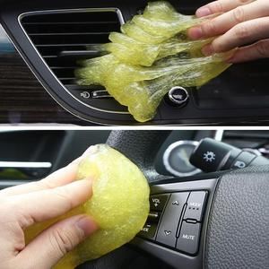 Image 5 - New 60ml Auto Car Cleaning Pad Glue Powder Cleaner Magic Cleaner Dust Remover Gel Home Computer Keyboard Clean Tool Car Cleaning
