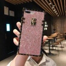 Square retro sand color mobile phone case for OPPOR9 R9S R11 R15 R17 plating back cover OPPO R9 R9S R11 Plus R17 Pro A73 A75 A83 цена и фото