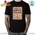 Ретро-футболка Tatooine Премиум-качества, 100% Аутентичная, сделанная в 1973 году, Мужская Винтажная футболка для новорожденных в 1973 году, футболка ...