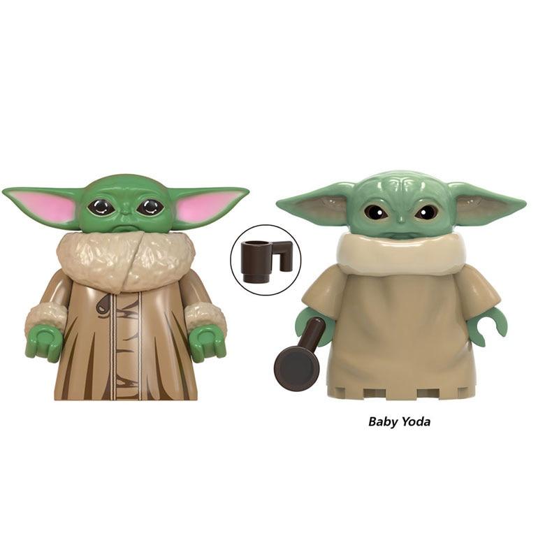 Yoda детские строительные блоки космические войны Дарт Вейдер Дамерон мандалор Джанго Фетт дработан фигурки модель для детей игрушки