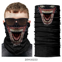 3D Seamless Bandana Headband Venom Neck Gaiter Joker Neck Buffs Tube Scarf Outdoor Hiking Scarves Motorcycle Face Mask Headwears(China)