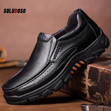 Genuine Leather Shoes Men Loafers Soft Cow Leather Men Casual Shoes 2020 New Male Footwear Black Brown Slip-on KA2088 цена 2017