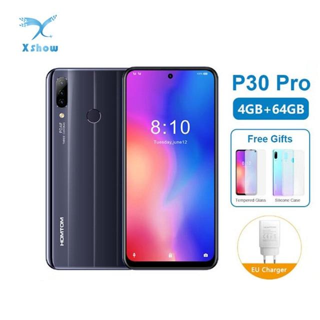 グローバルバージョン HOMTOM P30 プロ MT6763 オクタコア 4 ギガバイト 64 ギガバイトのスマートフォン 6.41 インチのアンドロイド 9.0 リア 13MP トリプルカメラ携帯電話