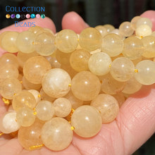 Pedra natural citrinos chalcedônia jades redondo grânulo para fazer jóias 6-10mm diy pulseiras acessórios atacado