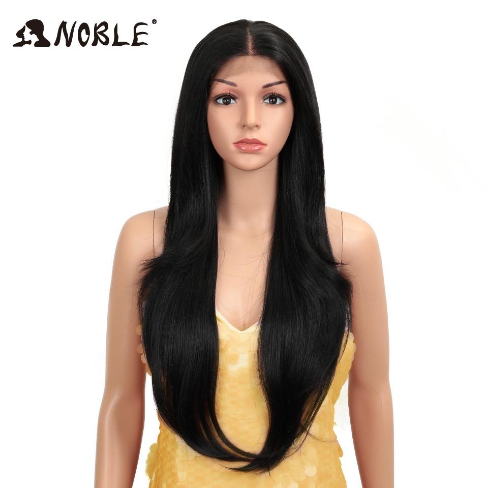 Asil sentetik dantel ön peruk uzun düz saç 28 inç doğal peruk Ombre sarışın peruk ısıya dayanıklı iplik peruk siyah kadınlar için