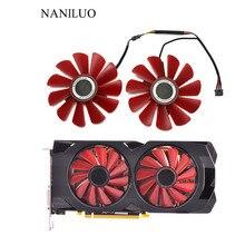 2 шт./лот 85 мм FDC10U12S9-C 0.45A 4Pin охлаждающий вентилятор Замена для XFX RX 560D RX 570 RX 580 RX Vega Вентиляторы Охлажден met rx