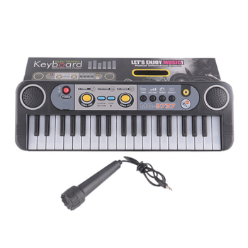 Mini 37 Keys Electone Keyboard Learning Musical Instruments Toys With Microphone Early Educational For Children Beginners Gifts