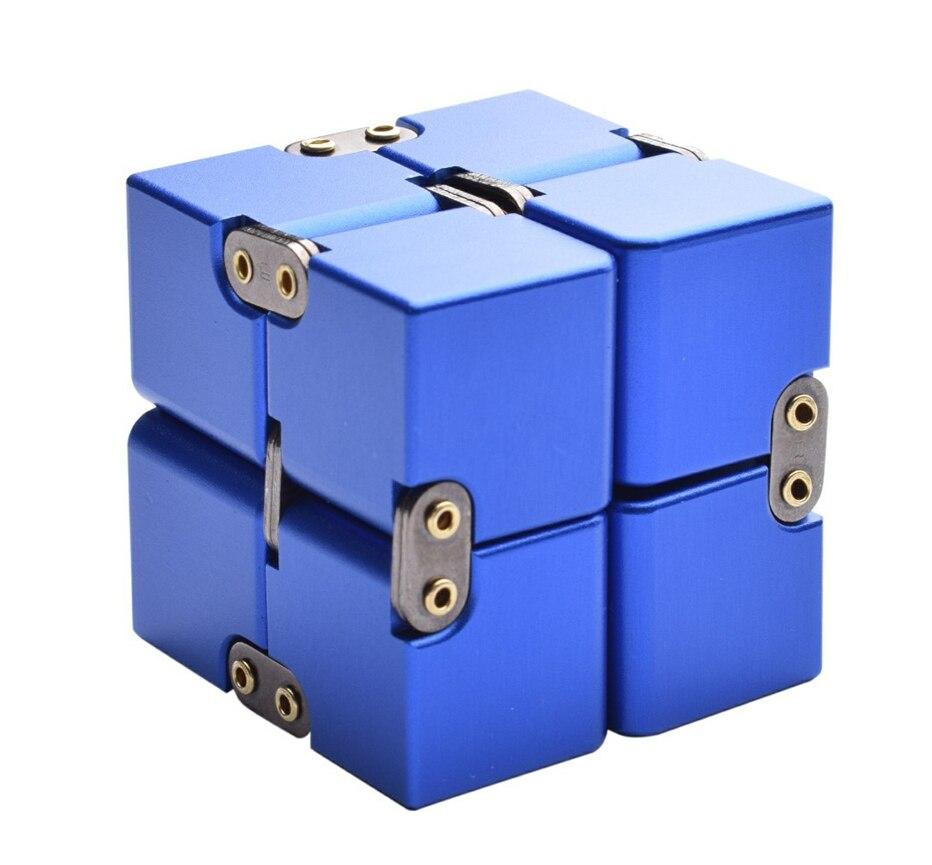 Aluminum Alloy Metal Fidget Cube Unlimited Stress Reliever Toys Flipo Flip Antistress Cube Tangle Toy Fidget Toys For Children P