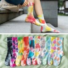 Носки хлопковые для мужчин и женщин Модные цветные Смешные милые