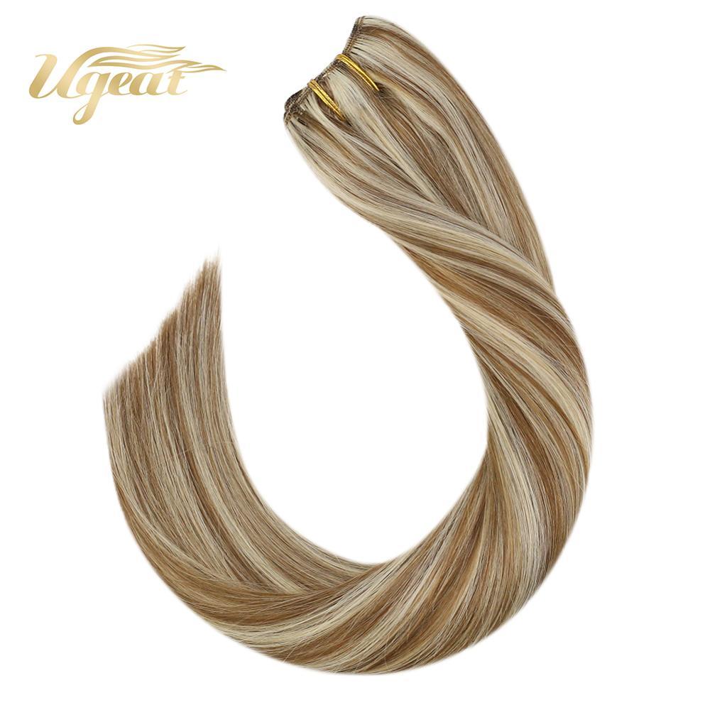 Clip In Human Hair Extensions Full Head Hair 14-24