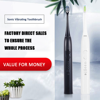 CANDOUR 5118  Sonic Electric Toothbrush Adult Timer Brush Electric Tooth Brushes with Replacement Brush Head USB Rechargeable umbracare ultrasonic sonic electric toothbrush usb charge rechargeable tooth brushes with replacement heads timer waterproof