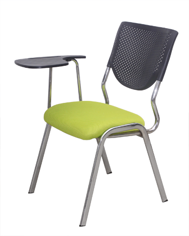 Simple European Office Chair Thicken Steel Training Chair With Foldable Writing Board Staff Chair Desk Chair Mesh Breathable