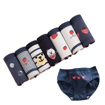 7PCS/LOT Underwear Women Plus Size Panties Cotton Breathable Briefs Sexy Lingeries Calcinha Girls Cute Panty Intimates XXL