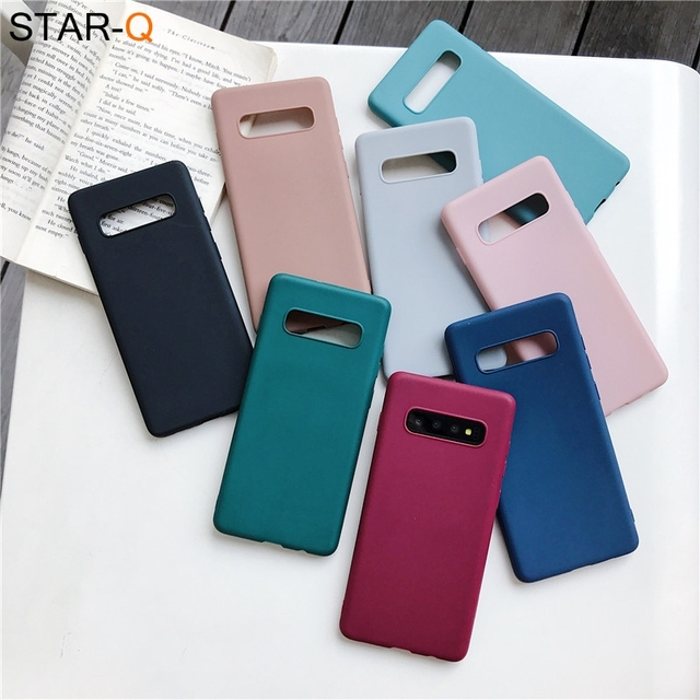 candy color silicone phone case for samsung galaxy note 10 9 8 s10 s10e s9 s8 s20 plus e galaxi matte soft tpu back cover cases 3