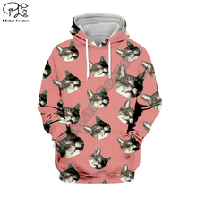PLstar Cosmos Animal Cat Art Cartoon Harajuku Tracksuit 3D Print Hoodie/Sweatshirt/Jacket/shirts Men Women hiphop casual style-1