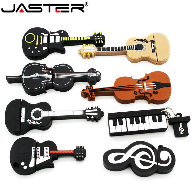 JASTER 8 Styles Musical Instruments Model Pendrive 8gb 16gb 32gb USB Flash Drive Violin/piano/guitar