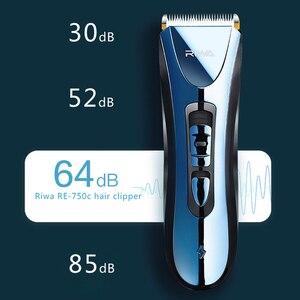 Image 4 - RIWA Impermeabile Capelli Trimmer Taglio di Capelli Cordless Clippers Barbiere Professionale Uomini Tagliatore di Capelli Macchina Per Il Taglio Dei Capelli RE 750A