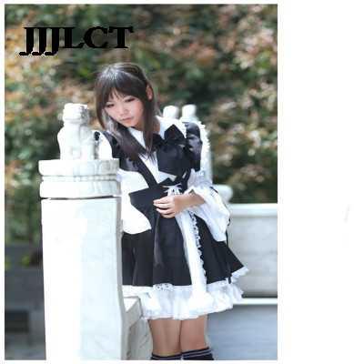 Hizmetçi kostüm Cosplay Anime dünya kafeterya Cafe etek, uzun etek, siyah ve beyaz hizmetçi kostüm, erkek kostüm