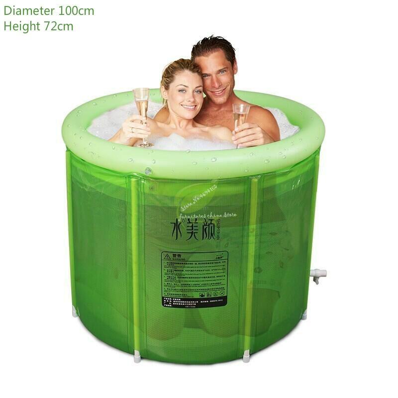 Baignoire de trempage Portable or Double baignoire gonflable surdimensionné adulte baignoire pliante bain baril adulte baignoire