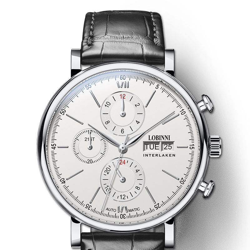 LOBINNI Luxury Brand Mechanical Watch Men Automatic Men's Watches 50m Waterproof Male Clock Man Sapphire 24hours montre homme|Mechanical Watches| |  - title=