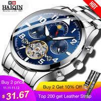 HAIQIN Mechanische Herren uhren top marke luxus uhr männer Business Military armbanduhr männer Tourbillon Mode 2019 reloj hombres