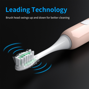 Image 3 - Electric Toothbrush Sonic Wave Rechargeable IPX7 Waterproof Smart Chip Toothbrush Head USB Rechargeable