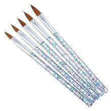 5 pçs forro óleo pincel caneta 3d dicas diy acrílico escovas desenho kit flor grade francês design manicure ferramenta para aquarela