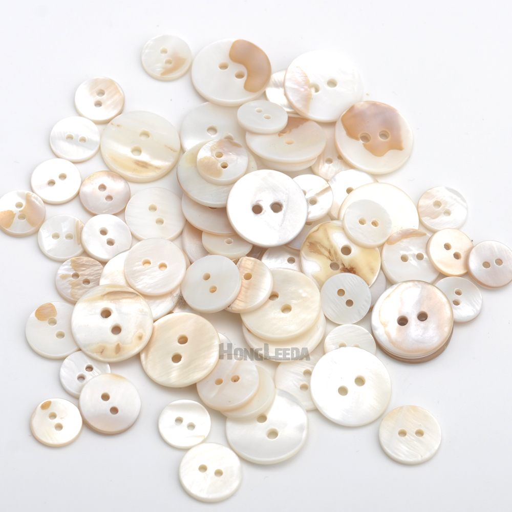 Round Shaped Shell Buttons 15mm 20pcs