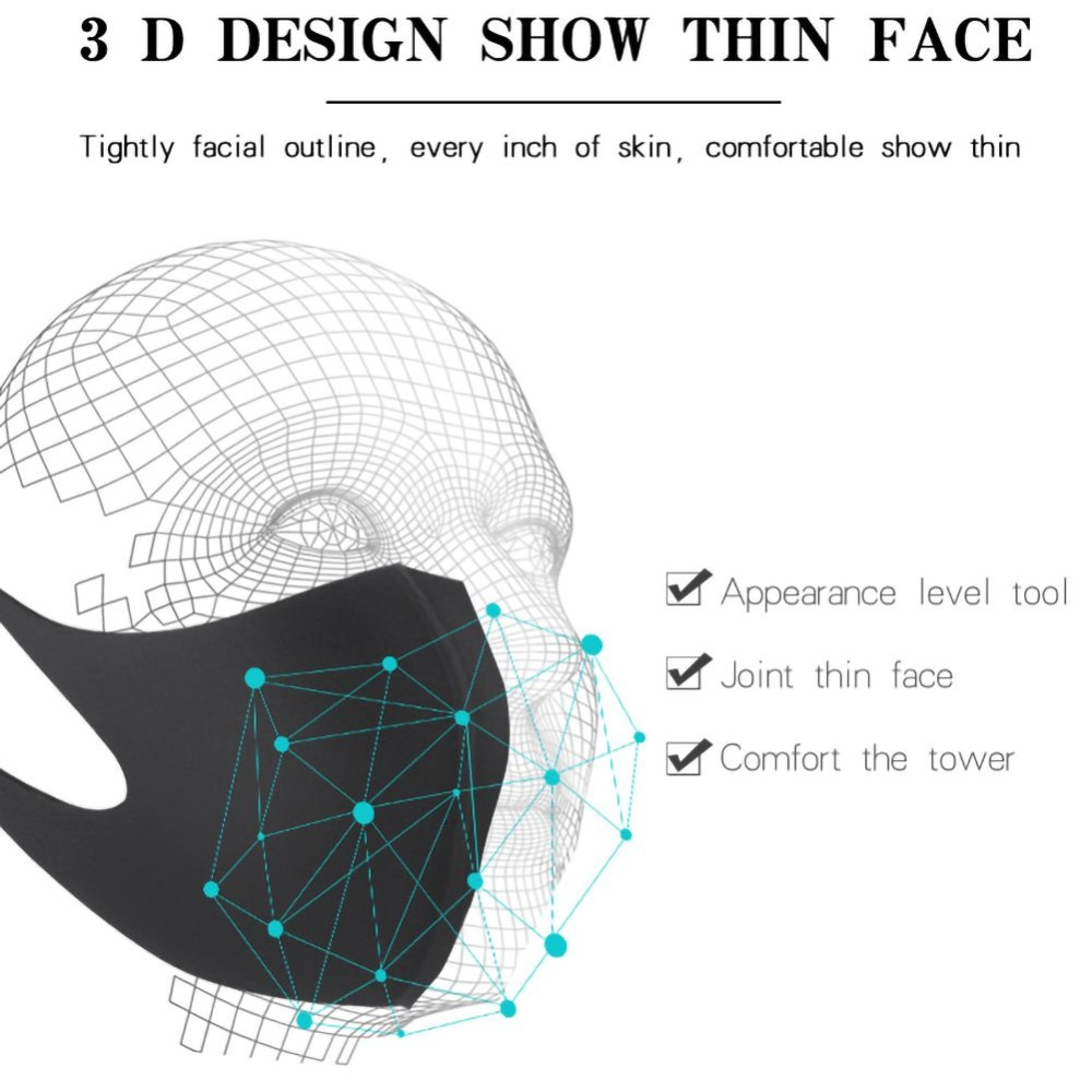 1 pc Washable Unisex Mouth Mask Universal Pollution  Anti Air Dust Flu Smoke Mask With Earloop Respirator Safety Mask Equipments 6