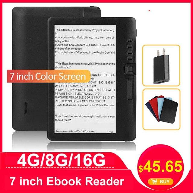 CLIATE 4G8G/16 グラム 7 インチ電子ブックリーダー液晶カラー画面スマート hd 解像度デジタル電子書籍サポートロシアスペイン語ポルトガル語