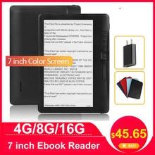 CLIATE 4G8G/16G 7 inç e kitap okuyucu LCD renkli ekran akıllı HD çözünürlük ile dijital e kitap desteği rusça İspanyolca portekizce