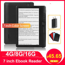 CLIATE 4G8G/16G 7 inch Ebook reader LCD Color screen smart with HD resolution digital E-book support Russian Spanish Portuguese(China)
