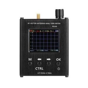 Image 4 - Ps100 137.5 mhz analisador de antena de 2.7 ghz medidor de onda permanente testador de antena rf analisador de impedância de vetor
