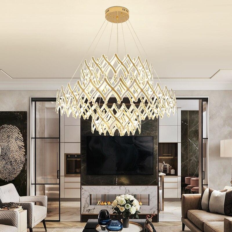 Потолочная люстра в скандинавском стиле, Современная креативная атмосферная лампа для дома, акриловая лампа для ресторана, офиса, магазина