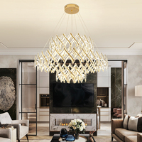 Ring chandelier Nordic modern creative atmosphere lamp home acrylic restaurant lamp office clothing store ring living room lamp