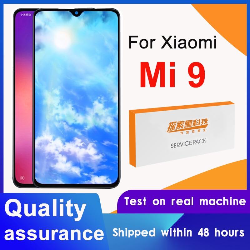 100% getestet 6.39 Display Ersatz für Xiaomi Mi 9 LCD Touch Screen Digitizer Montage Für Xiaomi MI9 Display Reparatur teile